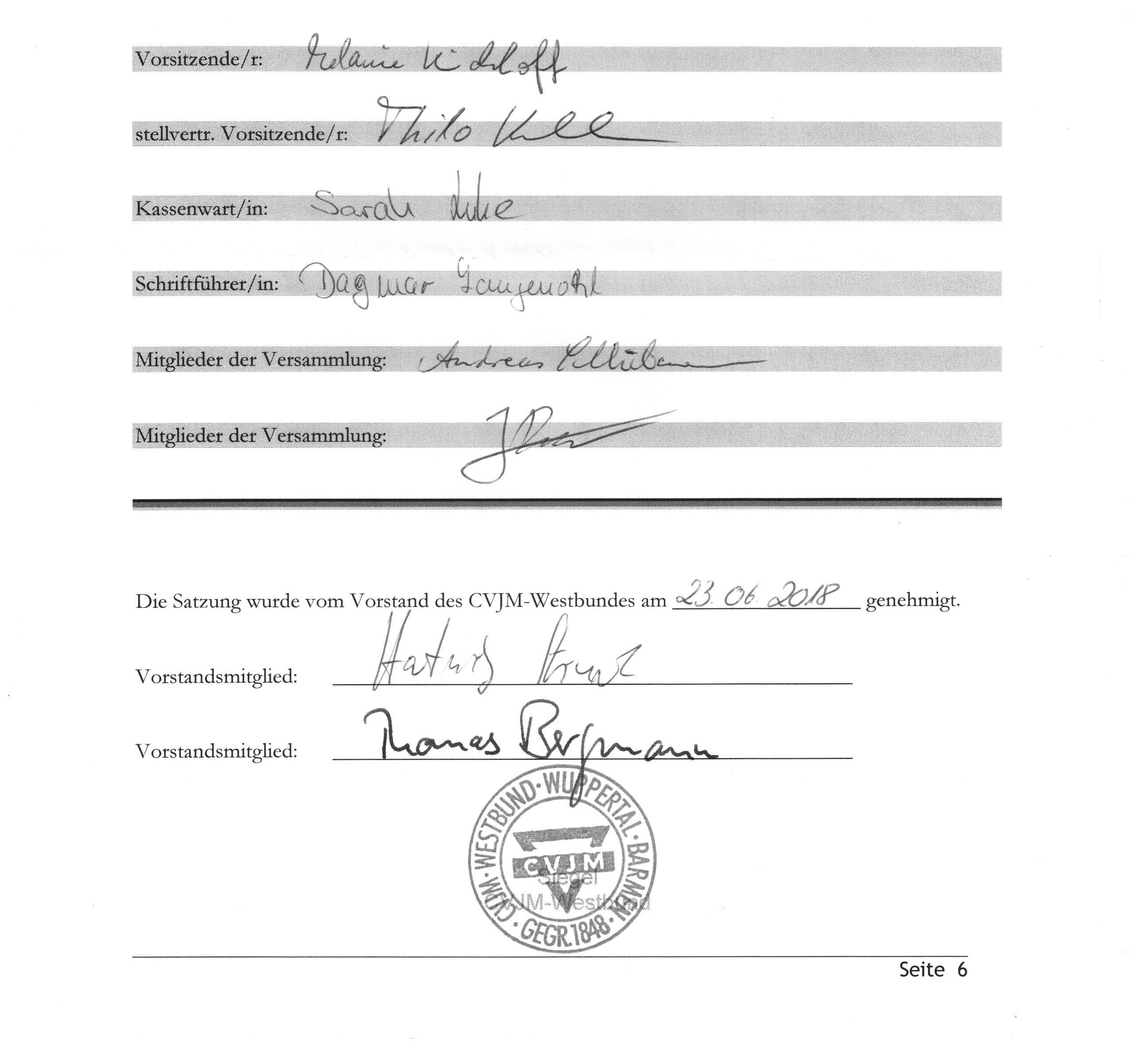 Satzung Unterschriften 001
